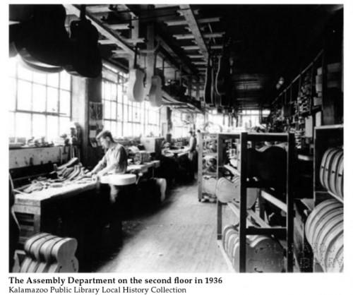 Összeszerelő részleg a Gibson gyárban