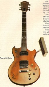 Roland gitárszinti-kontroller, Synclavier modullal, az eredeti hirdetésben