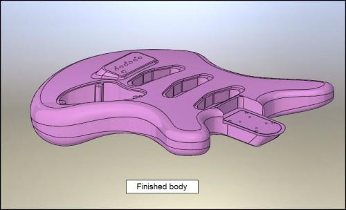 KOZM gitár tervezése CAD szoftverrel