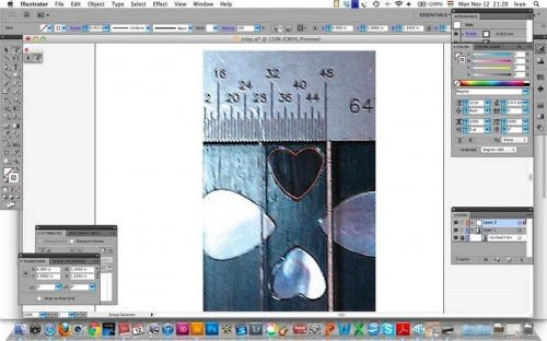 Kép az Ilustratorban, méretbeállításhoz