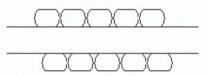 Mindkét oldalán köszörült körprofil (Semi-round Wound 2)