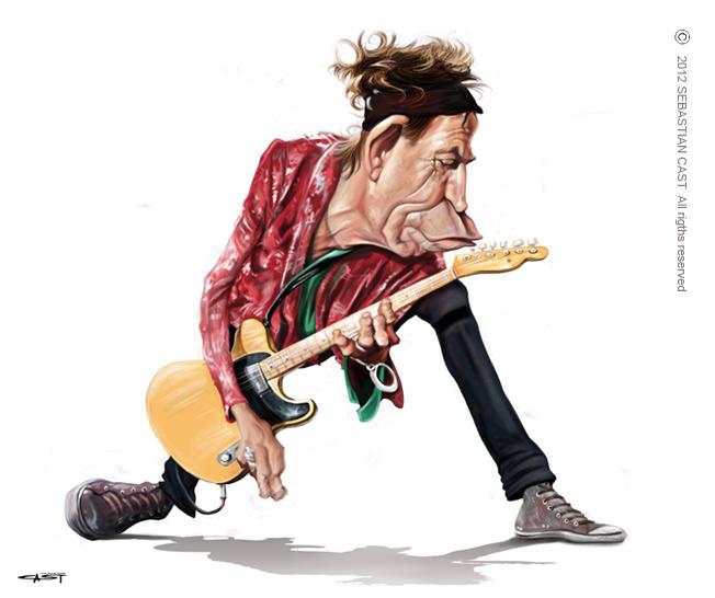 Zenész karikatúrák