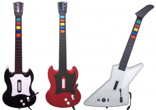 Gibson formájú Guitar Hero kontrollerek