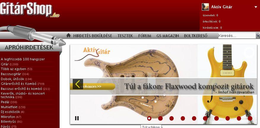 Gitárshop cikk: Flaxwood kompozít gitárok
