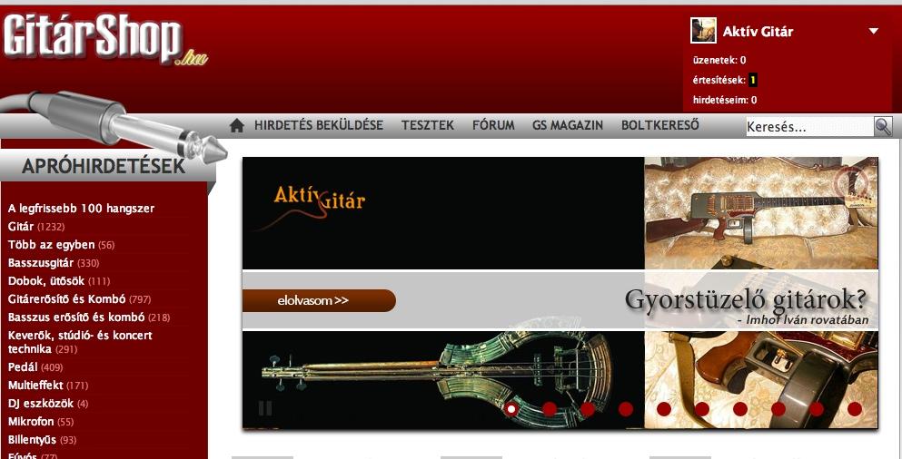 Gyorstüzelő gitárok – új Gitárshop cikk